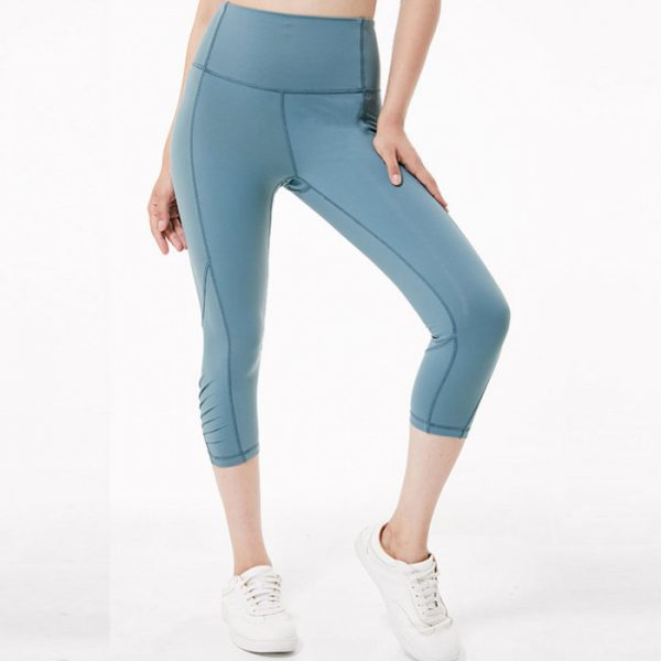High Waist Solid Color Capri Manufacturers USA