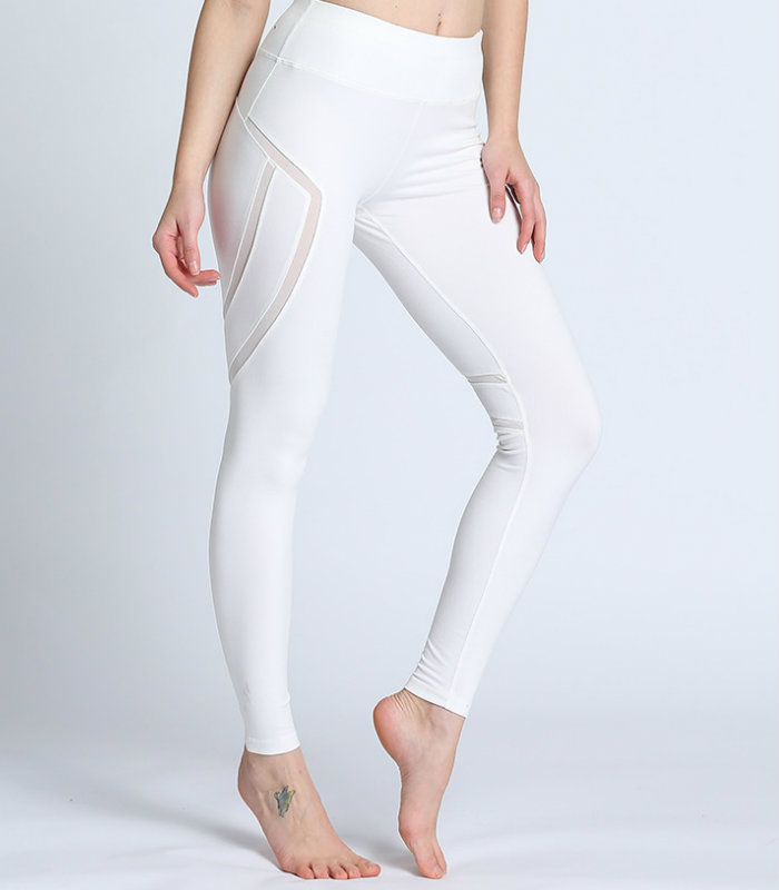 High Waist White Yoga Pants Manufacturers