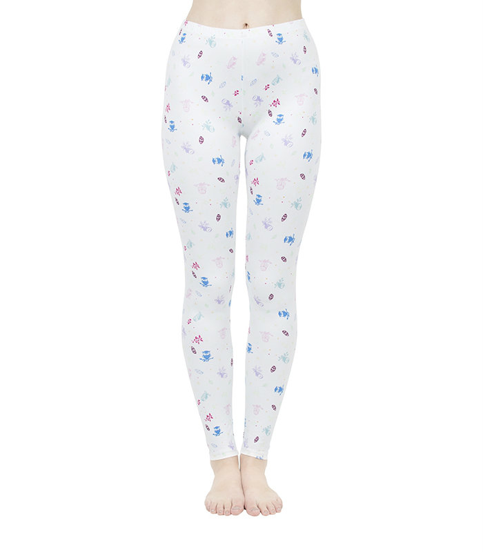 White Floral Printed Leggings Manufacturer USA