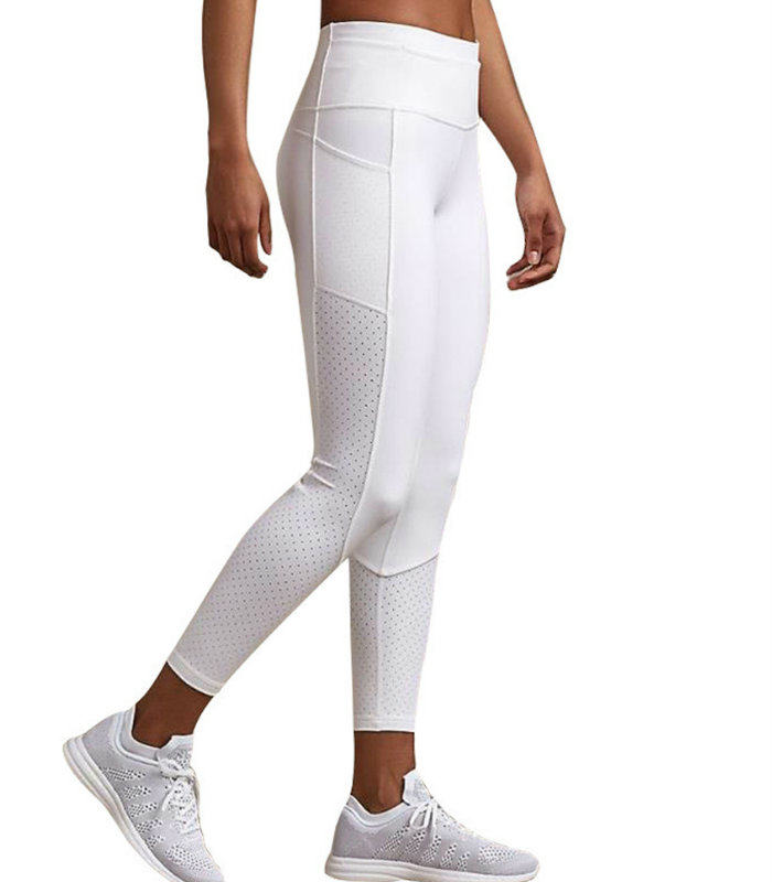 White Mesh Splicing Leggings Manufacturers USA