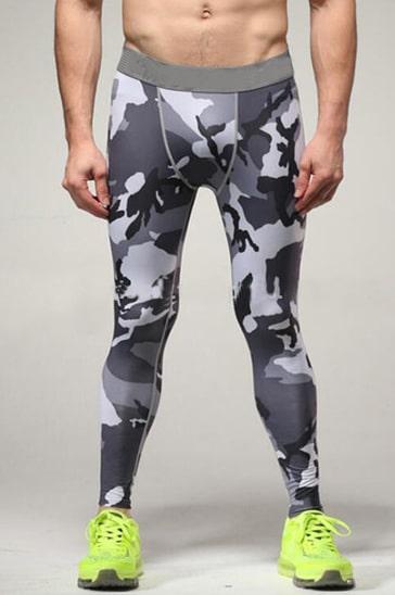 mens sports based printed leggings