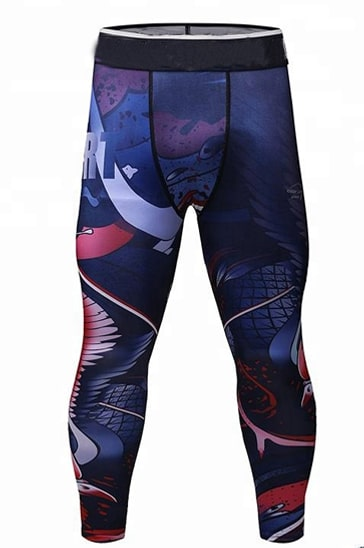 mens printed leggings wholesale