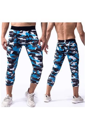 mens camouflage printed leggings