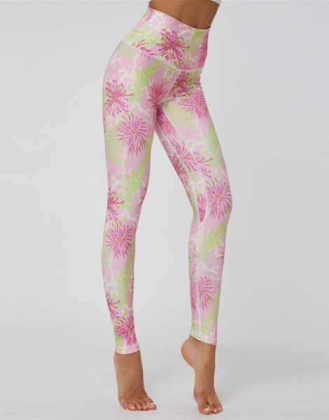 custom high waist printed leggings