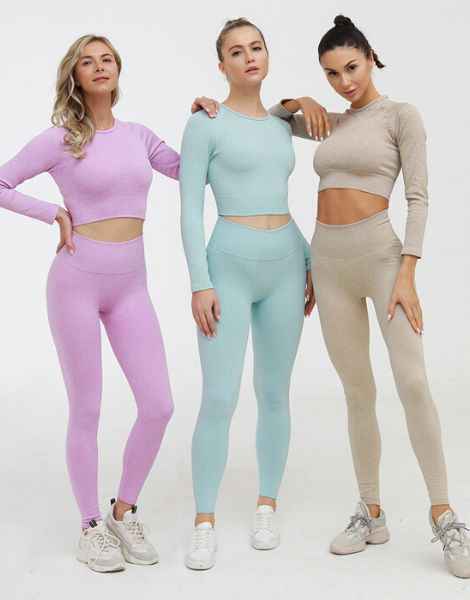 bulk women fitness clothing set