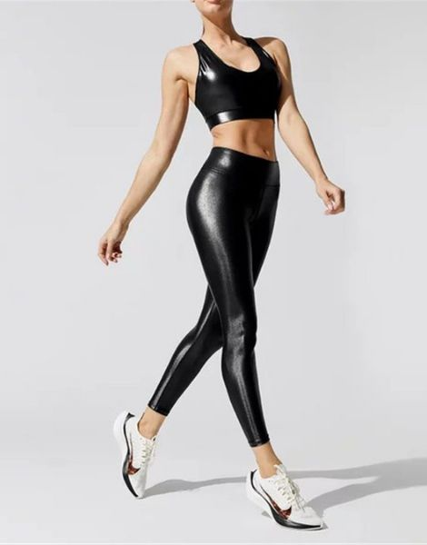 bulk high waisted leggings with sport bra