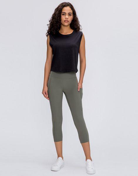 bulk high waist pocket yoga capri