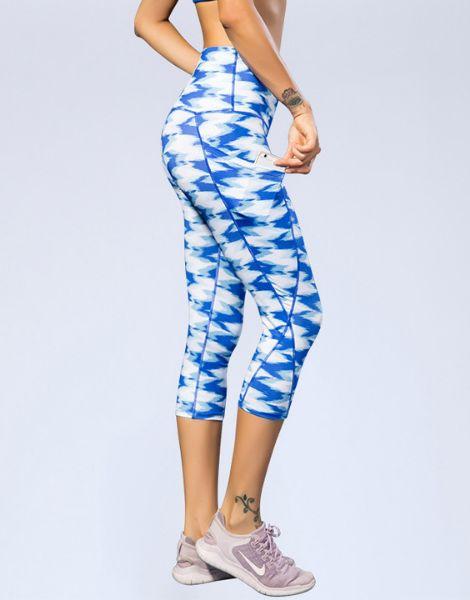 custom high waisted printed capri leggings manufacturers