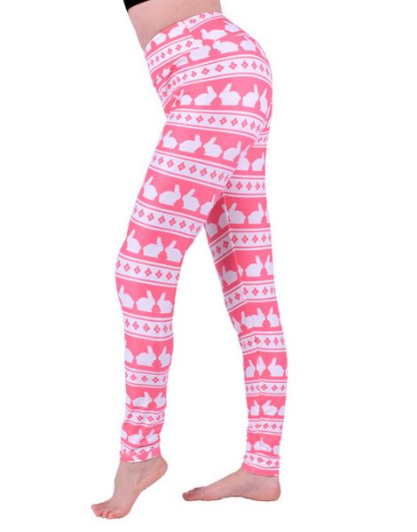 bulk brethable rabbit printed polyester printed leggings