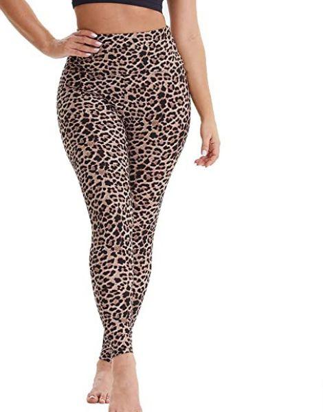 bulk high waisted spandex leopard printed leggings