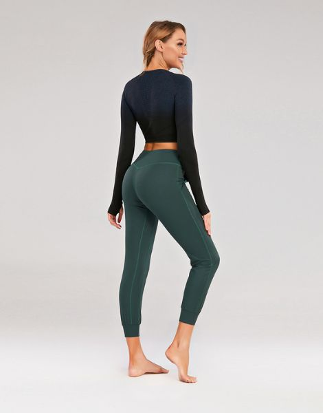 bulk polyester solid workout capri leggings for women