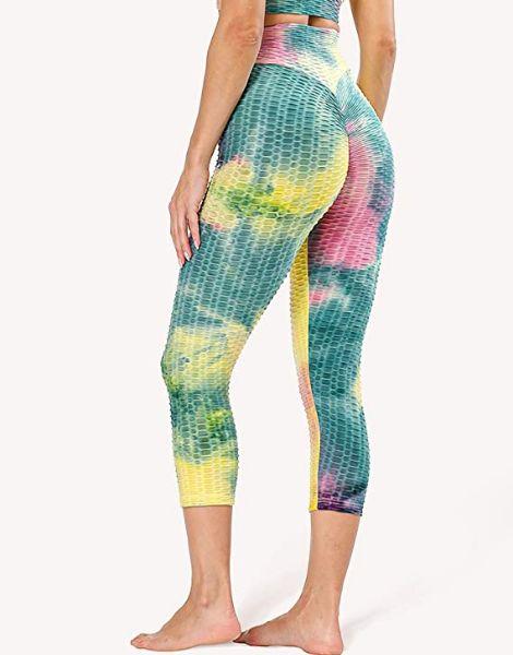 bulk tummy control high waisted spandex workout capri leggings