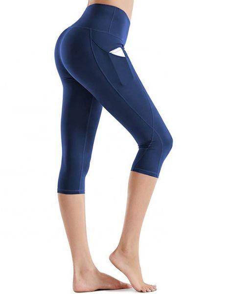 bulk stretch yoga capri leggings with pocket